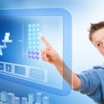 Education with virtual blackboard. — Stock Photo #9347143