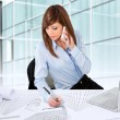Female architect working at desk. — Stock Photo #9348084
