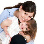 Portrait of friendly mother and daughter — Stock Photo