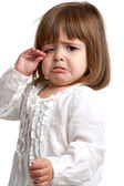 Unhappy little girl crying — Stock Photo