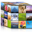 Concept travel cube. - Stock Photo