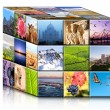 Concept travel cube. — Stock Photo