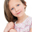 Close up portrait of cute girl. — Stock Photo