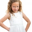 Young girl with angry face expression. — Stock Photo