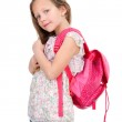 Young student with school bag. — Stock Photo