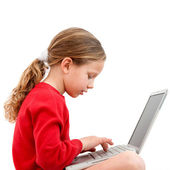 Young student with laptop. — Stock Photo