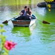 Couple on romantic boat ride. — Stock Photo #9725648