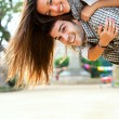 Young couple having great time outdoors. — Stock Photo #9725893