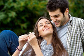 Close up of coulple in love — Stock Photo