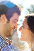 Close up of couple looking at each other. — Stock Photo