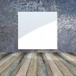 Blank dirty grunge blue wall — Stock Photo
