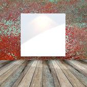 Muro bianco sporco grunge rosso — Foto Stock