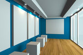 Empty office room — 图库照片