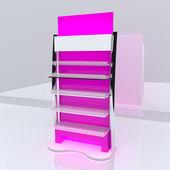 粉红色的架子 — 图库照片