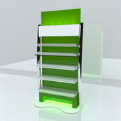 Green shelf — Stock Photo