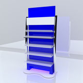Blue shelf — Stock fotografie