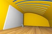 Galería amarilla — Foto de Stock