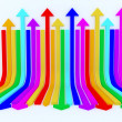 Rainbow arrows background — Stock Photo #9617275
