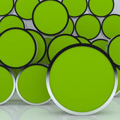 3D blank abstract green rounded box display — Stock Photo