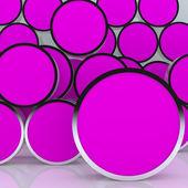 Leere abstrakt weiß runden feld display neue 3d-design — Stockfoto