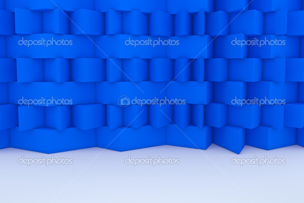 Abstract Blue Building Construction  Stock Photo #9649257