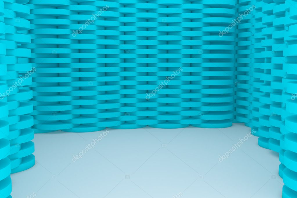 Abstract Blue Building Construction  Stock Photo #9649558