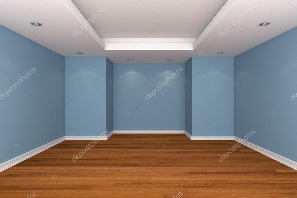 Renderização de interior para casa com quarto vazio decorar wal ...