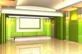 Empty room for interior seminar room color wall — Stock Photo