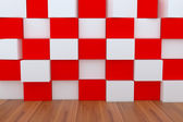 3d blank red and white box — Stock Photo