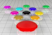 Colorful bubble diagram — Photo