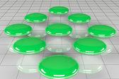 Green bubble diagram — Stock Photo