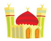 Mosquée de vecteur pour 1 musulman — Vecteur