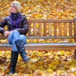Young blonde girl relaxing in park — Stock Photo #9305170