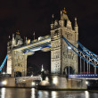 Tower Bridge at night, London — Foto de Stock
