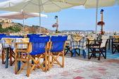 Traditionall Greek tavern — Stock Photo