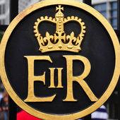 Symbol of Queen Elizabeth II Regina — Stock Photo