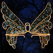 Angel as a light decoration — Stock Photo