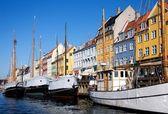 Nyhavn Port, Copenhagen — Stock Photo