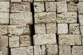Bricks of covering tufa — Stock Photo
