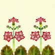 Stock Photo: Art deko border floral