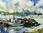 яхты в бухте tha — Стоковое фото