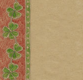 Three leaves clover pattern — Stock Photo