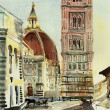 Florence duomo watercolor - Stock Photo