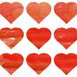 Red heart seamless pattern — Stock Photo