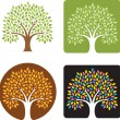 Tree Logo Illustration - Stock Vector