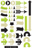 Set of 11 Different Arrow Vectors — Stock Vector