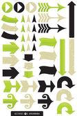 Set of 11 Different Arrow Vectors — Stock Vector