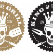 King of the Grill Barbecue Logo — Stock Vector