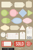 Set of 20 Different Vector Tags — Stock Vector