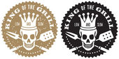 King of the Grill Barbecue Logo — ストックベクタ